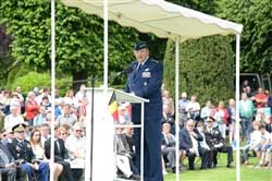 Gen. Philip Breedlove, Commander, U.S. European Command, provides remarks during the US-Belgium Memorial Day service at Flanders Field Cemetery in Waregem, Belgium on May 25, 2014.