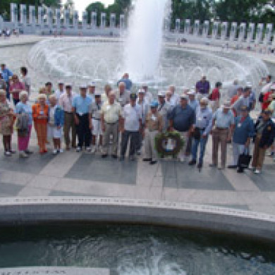 attendees at blue spaders reunion in washington dc