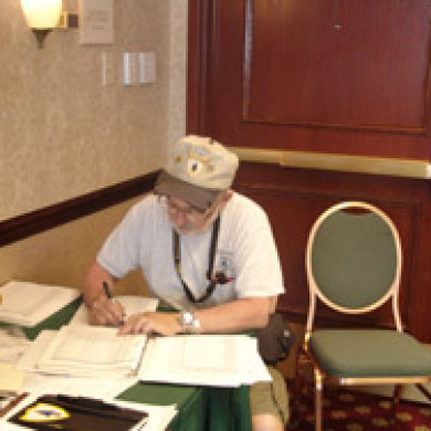 paperwork at blue spaders reunion in washington dc
