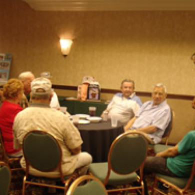 group talking at blue spaders reunion in washington dc