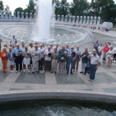 wide shot of blue spaders reunion in washington dc