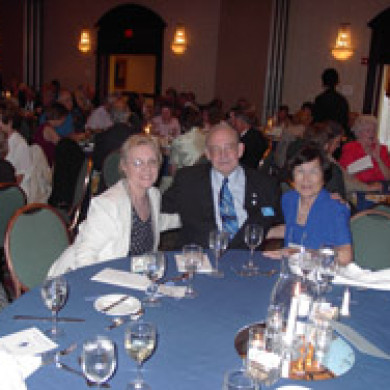 lady in blue dress at blue spader reunion washington dc
